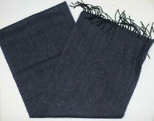 "NWT Lanvin Paris Men's Virgin Wool Blue Scarf 12"" x 64"""