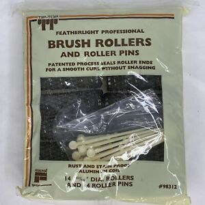 """Vtg NOS 14 11 /16"""" Tip Top Featherlight professional Brush Rollers 4 Roller Pin"""