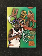SHAQUILLE O'NEAL 1996-1997 Skybox USA OLYMPIC Insert #B7 💎 GOLD SPARKLE GLITTER