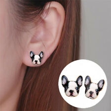 New Cute French Bulldog Earrings Vintage Dog Puppy Studs Boucle D'oreille Femme