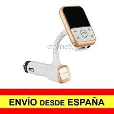 Cargador Mechero Coche MP3 Manos Libres Bluetooth USB Transmisor FM BLANCO a2809