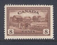 CANADA 268 1946 8c KING GEORGE VI PEACE ISSUE EASTERN FARM SCENE VF MNH