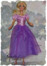 Robe de Princesse Poupée Mannequin Barbie  Raiponce Dress bal