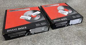 BRAKE DISCS X2 256mm FRONT FITS AUDI SEAT SKODA VW DRIVEMASTER DMD005