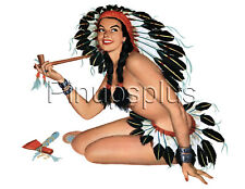 Sexy Indian Maiden Pinup Girl Waterslide Decal Sticker Great for Guitars S29