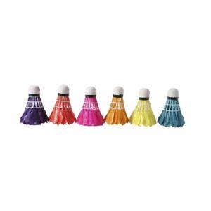 Badminton-Federbälle - Colorato - Prima Qualità - 6 Pezzo