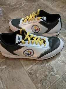 Reebok NFL Pittsburgh Steelers Athletic Running Shoes White Men's Size 11