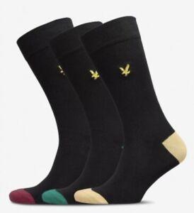 Lyle & Scott Socks. Kennedy 3 Pairs Premium Cotton Socks UK 7-11 40% Discount!!!