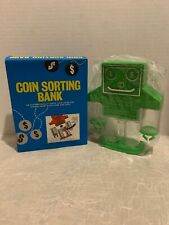 Vintage Robot Coin Sorting Bank Green 5271 The Lincoln  Line New In Box