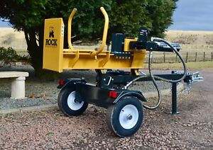 22ton V-Series wood log Splitter Petrol Hydraulic by Rock Machinery