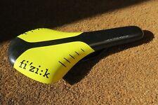 Fizik Antares road bike saddle, 245 gr, black/yellow.