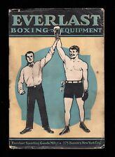 >orig. 1924 EVERLAST BOXING EQUIPMENT CATALOG Harry Wills, Jack Dempsey++