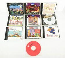 Lot 10 PC Mac CD Software Gardening Wine Quilt Adobe Acrobat Photo Typing Fonts