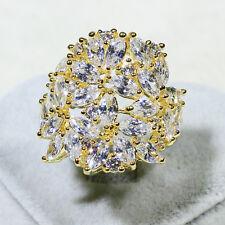 18K Yellow Gold Filled CZ Women Fashion Gift Jewelry Bridal Ring R5818 Size 8