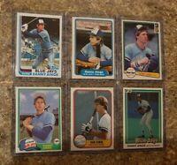 6) Danny Ainge 1981 1982 Topps Traded Fleer Donruss Rookie card lot Blue Jays RC