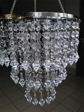 Round Hanger Wedding Centerpiece Clear Beaded Chandelier Acrylic Crystal Diamond
