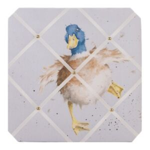 Wrendale Designs Duck Fabric Notice Board - Waddle and Quack 40cm Pin Board