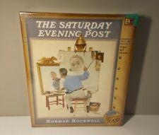 "The Saturday Evening Post Norman Rockwell ""Triple Self Portrait"" 1000 PCS Puzzle"