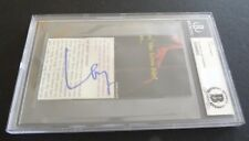 Layne Staley Alice Chains Signed Autographed 2.5x5 Cut Beckett Certified Slabbed