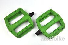 [US SELLER] Wellgo Platform Pedals MTB BMX Bike Bicycle Fixed Gear - Army Green