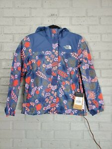 NWT The North Face FLORAL Girls' L 14-16 RESOLVE REFLECTIVE RAIN JACKET Travel