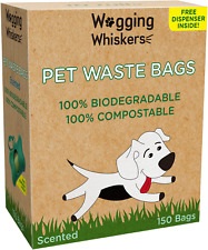 Wagging Whiskers Poop Bags for Dogs Biodegradable Waste Pet Dog & Cat Scented