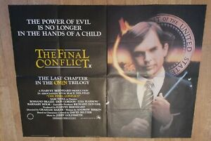 ORIGINAL THE FINAL CONFLICT U.K QUAD CINEMA POSTER 30 X 40 INCHES