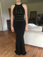 'Bond Dress' High Neck Black Column Formal Dress