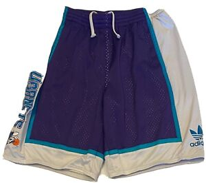 Adidas Charlotte Hornets NBA Men's Purple Athletic Shorts Size XL