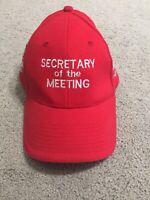 V8 Supercars Australia 2002 Red Cap Hat Secretary Of The Meeting Vintage Rare
