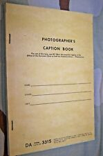 Photographer'S Caption Book, 1968 Dated, U.S. Issue *Nice*