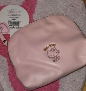 hello kitty pink cosmetic pouch