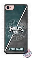 Philadelphia Eagles Tread NFL Phone Case Cover Fits iPhone Samsung LG etc NAME