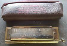 """M. HOHNER """"il chromatica"""" tipo 260? Armonica Chiave di C-USATO-suona bene"""