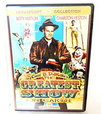 2B DVD THE GREATEST SHOW ON EARTH Cecil B Demille Heston Hutton Stewart Classic