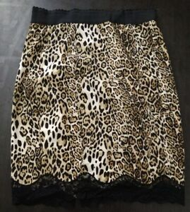 Victoria Secret Silky Lace Trim Cheetah Print Skirt