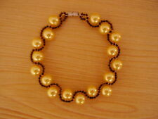 Handmade beaded bracelet with glass pearls