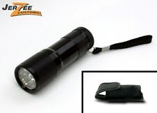 9 LED Mini Flashlight Torch- with Belt Holster -Black