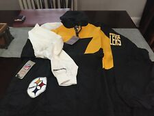 f7cddcf49 MENS PITTSBURGH STEELERS Mitchell Ness Shark Tooth Full-Zip Jacket 3XL NWT