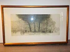 "Harold Altman Signed Artist Proof ""Three Trees"" Original 60's Wood Frame Exc!"