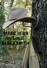 Blacksmith, Real Horseshoes,American Made Cowboy Hat/Coat Rack