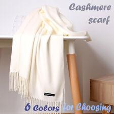 Men Women CASHMERE Scarf Warm PLAIN Solid Wool SCOTLAND Winter Scarves Shawl