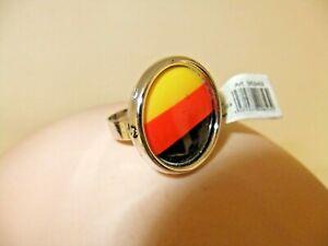 EM 2020 - 25  Ring - Deutschland  - schwarz -rot - gold