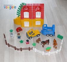 LEGO Duplo® Reiterhof, Pferdeanhänger, Pferde Tier und viel Zubehör Zaun