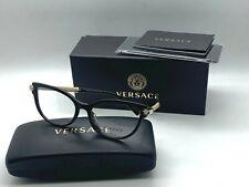 New authentic VERSACE Womens Eyeglasses VE3270QA 5299 BLACK 54-17-140MM NIB