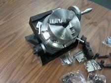 6 Tilting Rotary Table Heavy Duty Centering Adapter Amp 5 Chuck Tsk 150 New
