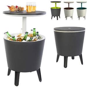 Beistelltisch Stehtisch Gartentisch Getränkekühler Partytisch Keter CoolBar Rund