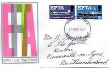 1967 Sg 715/6 EFTA First Day Cover with Ipswich Cancellation