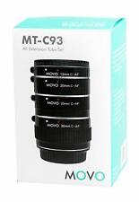 Movo Photo AF Macro Extension Tubes Set Canon EOS DSLR , 12, 20, 25, 36mm