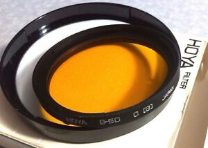B50 Hoya ( G ) Orange Glass Lens Filter B-50 B 50 Japan Coated Ornage(g) g